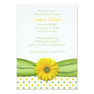 Invitación amarilla y verde de la fiesta de