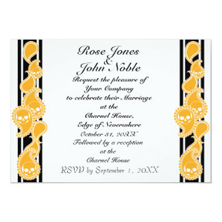 Invitación (ambarina) anversa del boda