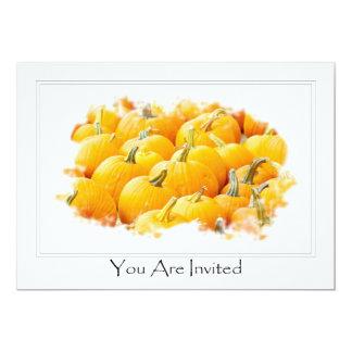 Invitación anaranjada de Halloween PumpkinsParty