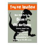 Invitación anaranjada de la fiesta de cumpleaños