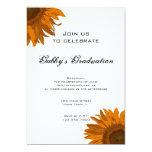 Invitación anaranjada de la fiesta de graduación invitación 12,7 x 17,8 cm