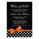 Invitación anaranjada de la graduación de los luna