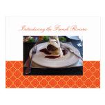 Invitación anaranjada del acontecimiento del negoc tarjetas postales