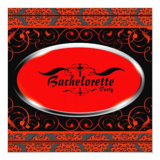 Invitación anaranjada del fiesta de Bachelorette