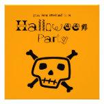 Invitación anaranjada del fiesta de Peter Hallowee