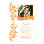 Invitación anaranjada elegante de la fiesta de