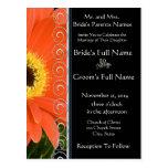 Invitación anaranjada elegante del boda de la postal