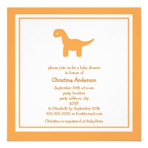 Invitación anaranjada linda de la fiesta de bienve
