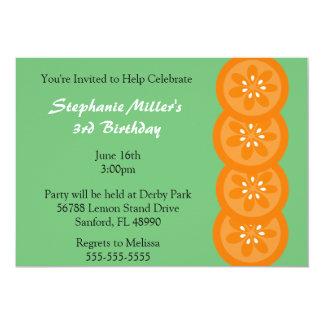 Invitación anaranjada linda del fiesta del verano