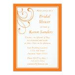Invitación anaranjada media de encargo - Flourish Invitación 12,7 X 17,8 Cm