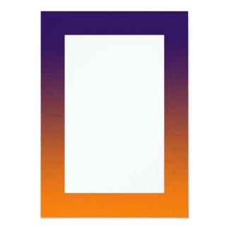 Invitación anaranjada púrpura de la pendiente