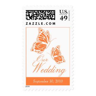 Invitación anaranjada simple del boda de la envio