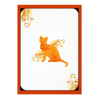 Invitación anaranjada y amarilla del amante del ga