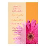 Invitación anaranjada y rosada del boda de la marg