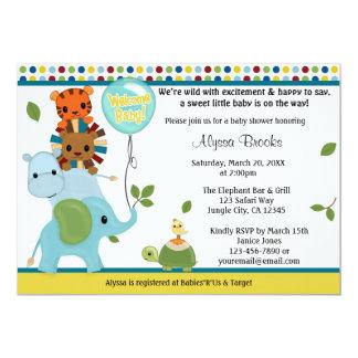 Invitación animal APK #2 de la fiesta de Invitación 12,7 X 17,8 Cm