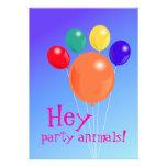 invitación animal bouquet_Party Pata-formada del g
