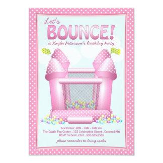 Invitación animosa rosada bonita de la fiesta de