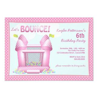 Invitación animosa rosada de la fiesta de
