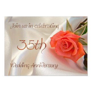 invitación anniverary del fiesta del 35to boda invitación 12,7 x 17,8 cm