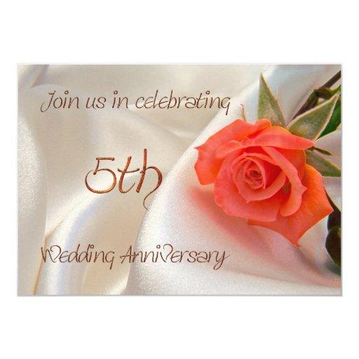 invitación anniverary del fiesta del 5to boda