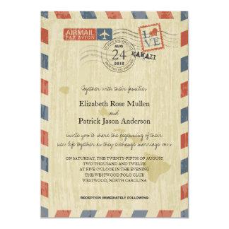 Invitación antigua del boda de Hawaii del correo
