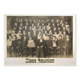 Invitación antigua del ~ de la foto de la clase