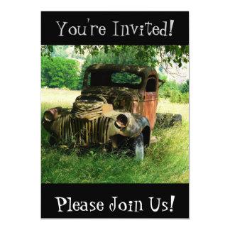 Invitación antigua del fiesta de retiro del camión