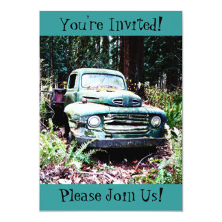 Invitación antigua del fiesta de retiro del camión invitación 12,7 x 17,8 cm