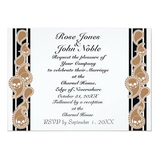 Invitación anversa del boda (del moreno)