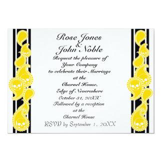 Invitación anversa del boda (del oro)