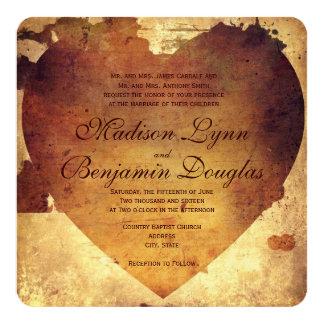 Invitación apenada país rústico del boda del