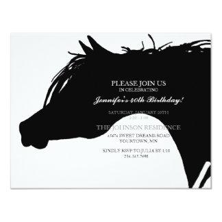 Invitación árabe negra de la fiesta de cumpleaños invitación 10,8 x 13,9 cm