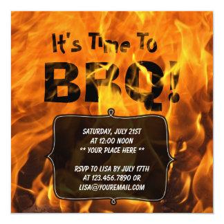 Invitación ardiente caliente del fiesta del verano