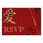 Invitación asiática de la invitación del boda de R