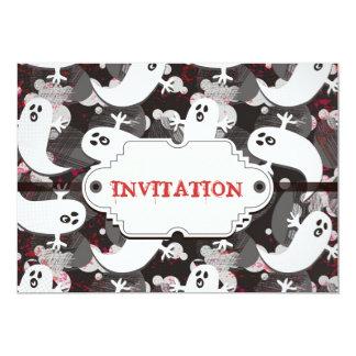 invitación asustada del fiesta del marco del