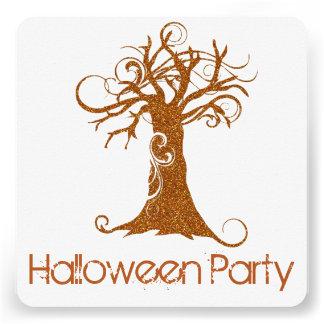 Invitación asustadiza anaranjada 2 del fiesta del