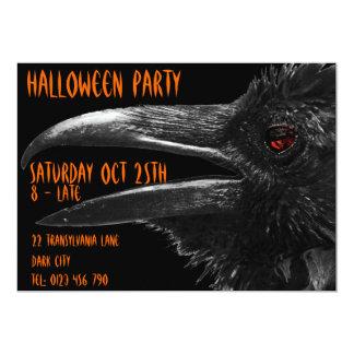 invitación asustadiza de Halloween del cuervo