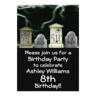 Invitación asustadiza de la fiesta de cumpleaños