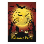 Invitación asustadiza del fiesta de Halloween de Invitación 12,7 X 17,8 Cm