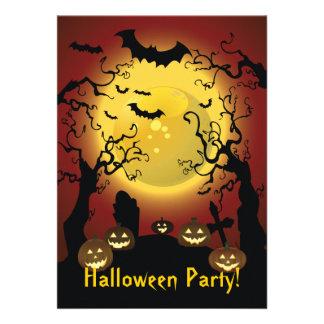 Invitación asustadiza del fiesta de Halloween de l