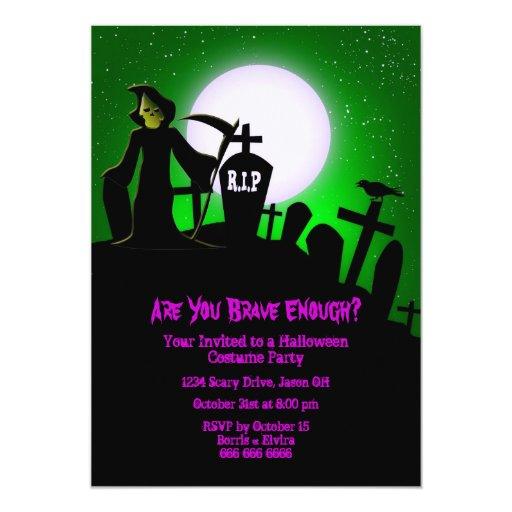 Invitación asustadiza del fiesta de Halloween del