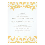 Invitación atractiva del boda del oro
