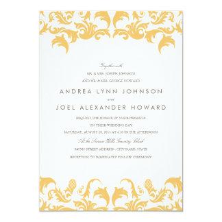 Invitación atractiva del boda del oro invitación 12,7 x 17,8 cm