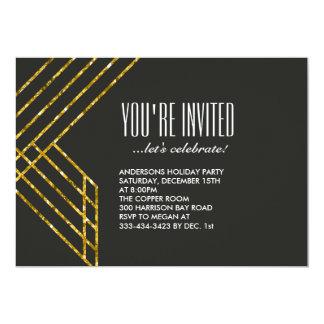 Invitación atractiva del fiesta del oro