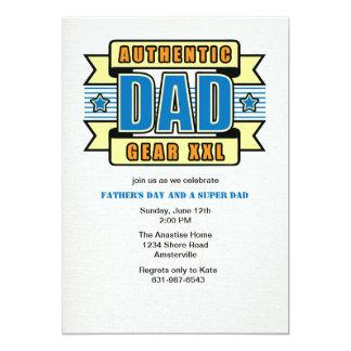 Invitación auténtica del día de padre del papá