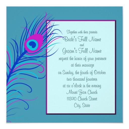 Invitación azul 2 de la pluma