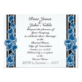 Invitación (azul) anversa del boda