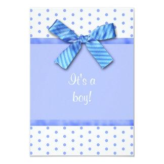 Invitación azul brillante de la fiesta de