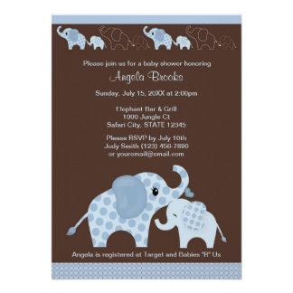 Invitación azul CE-B de la fiesta de bienvenida al