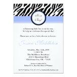 invitación azul clara de la fiesta de bienvenida